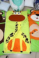 """Слипик S (спальный мешок) """"Жирафик""""  спальник, мобильная постелька,постельное белье."""