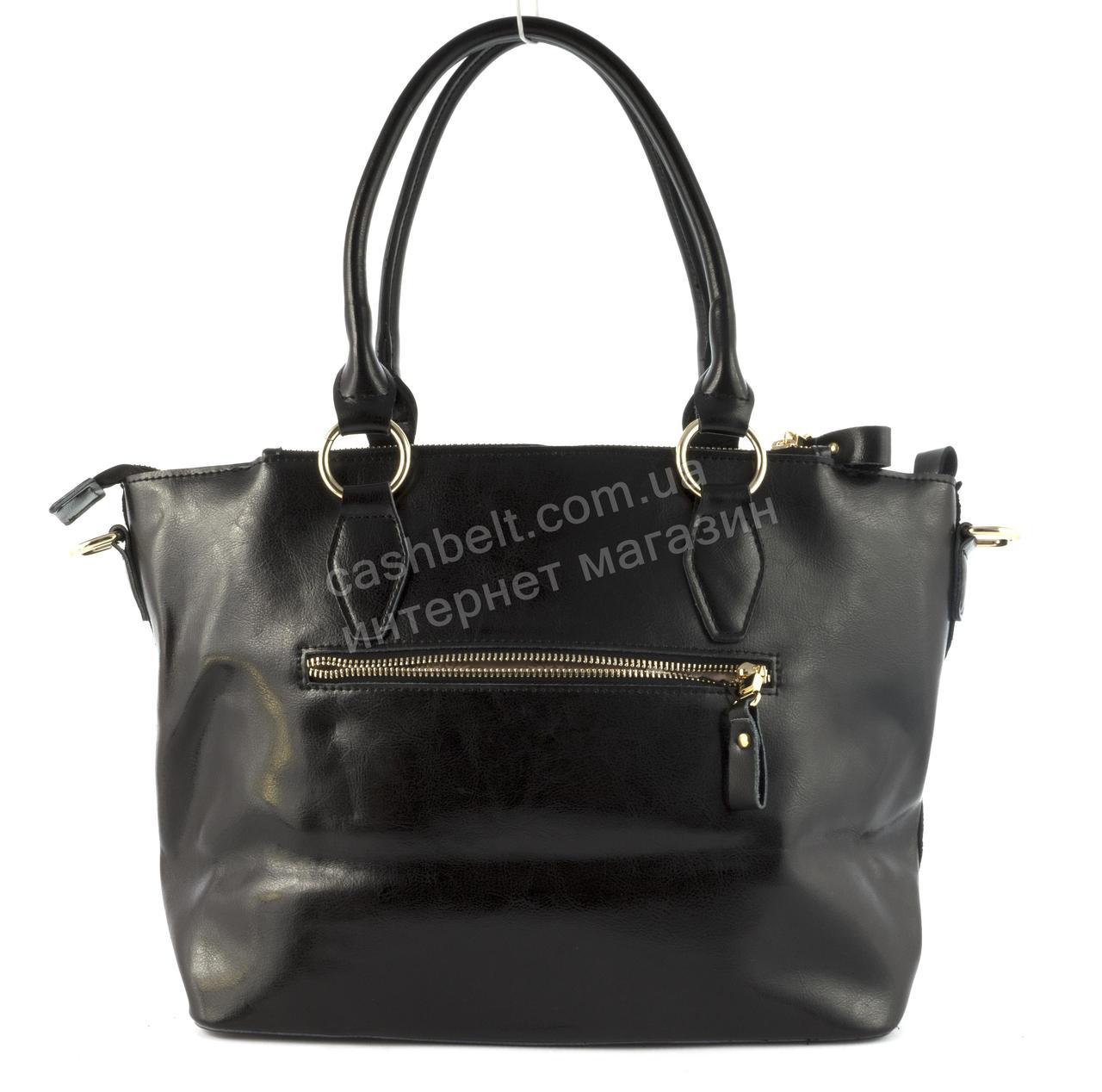 03e2db4da544 ... Оригинальная стильная прочная элегантная кожаная женская сумка с  замшевой лицевой частью art.16668 черная, ...