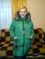 Куртка Пуховик зимний женский модный (44-50) с капюшоном, доставка по Украине