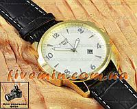 Мужские наручные часы Tissot Quartz Date Numeric Gold White кварцевые японский механизм