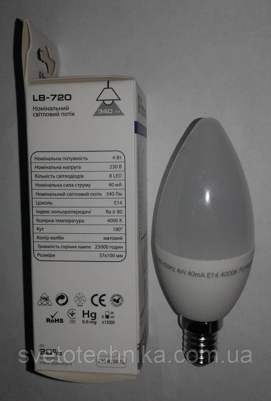 Светодиодная лампа  Feron LB720 Е14 4W 4000К