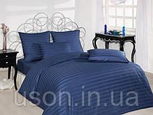 Комплект постельного белья сатин  Altinbasak евро размер Lacivert
