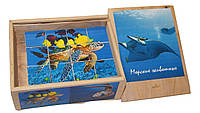 """Деревянные развивающие кубики """"Морские животные"""""""""""