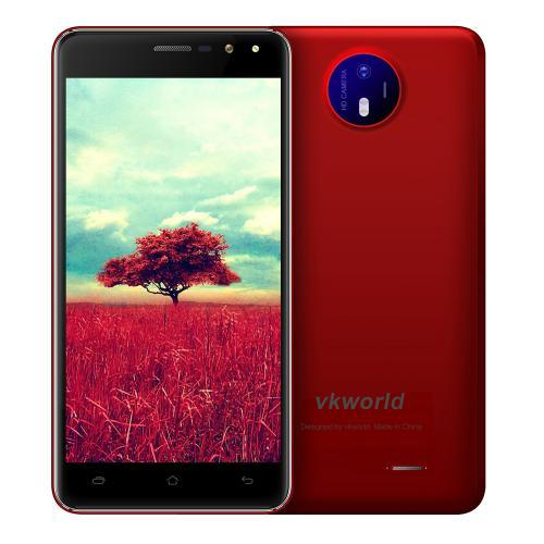 "Смартфон VkWorld F2 Red, 2/16Gb, 4 ядра, 8/2 Мп, 5"" IPS, 2 SIM, 2200 мАч, Android 7.0"