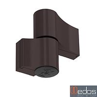 Петля дверная GU 67 мм для алюминия (коричневая) RAL 8019