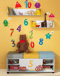 "Дитячі наклейки на стіни ""Цифри і фігури"""