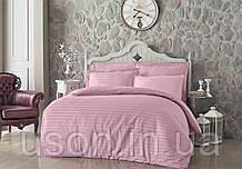 Комплект постельного белья сатин  Altinbasak евро размер Pembe