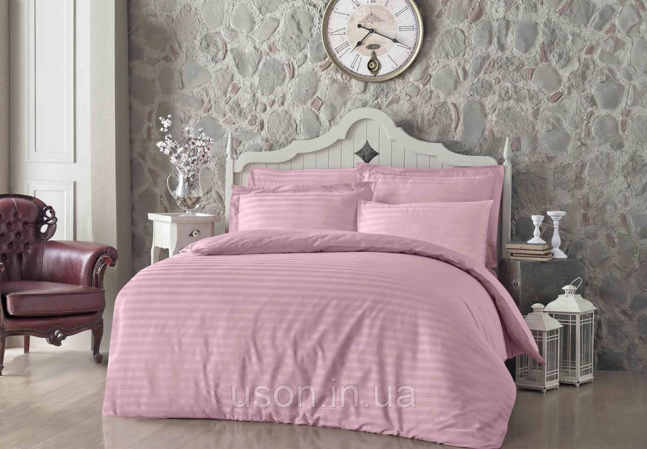 Купить Комплект постельного белья сатин Altinbasak евро размер Pembe