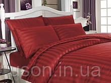 Комплект постельного белья сатин  Altinbasak евро размер Red