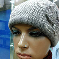 Silvia зимняя женская шапка Kamea, полушерстяная, какао цвет, фото 1