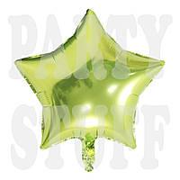 Фольгированный шар Звезда светло-зеленая, 44 см