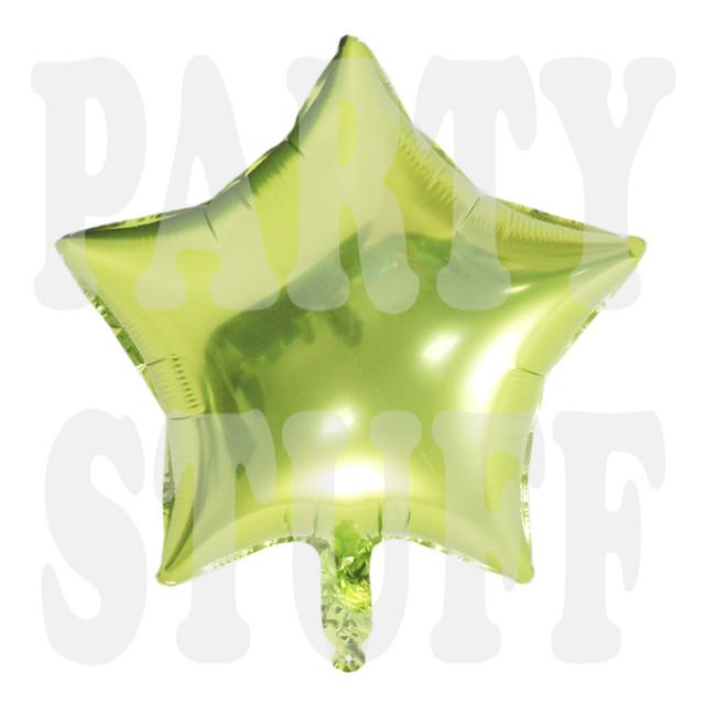 фольгированный шар звезда светло-зеленая