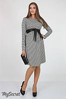 Платье для беременных и кормящих Barbara ЮЛА МАМА (бело черное, размер S), фото 1