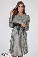 Платье для беременных и кормящих Barbara ЮЛА МАМА (бело черное, размер M), фото 1