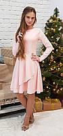 Нарядное платье для девочки Леди нежно-розовый р.140-164
