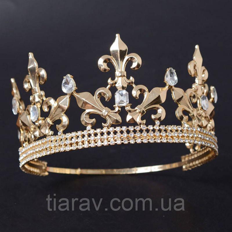 Корона мужская ОЛИМПИЯ церковная круглая корона царская