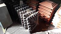 "Колпак бетонный на столб забора 390х390х70мм ""Черепица"""