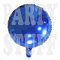 Шар круглый фольгированный Королевский синий, 44 см