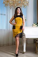 Платье с асимметричной юбкой Dzhemma 44–50р. в расцветках