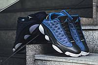 Мужские кроссовки Nike Air Jordan 13 Retro Low (Brave Blue / Metallic Silver - Black)