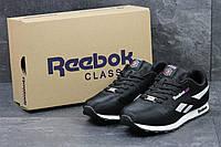 Кроссовки мужские Reebok (черно-белые), ТОП-реплика, фото 1