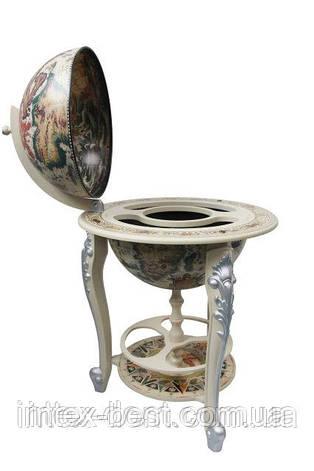 Глобус бар 450 мм  напольный белый на трех ножках 45045W-M, фото 2