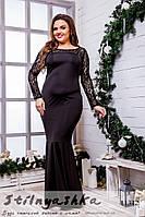 Вечернее платье для полных Рыбка черное, фото 1