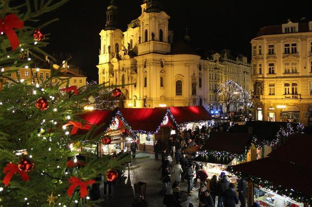 Рождественский рынок в Праге, Чехия