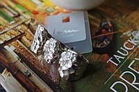 Женское кольцо модное стильное ретро винтаж серебро Панк стиль на 3 пальца