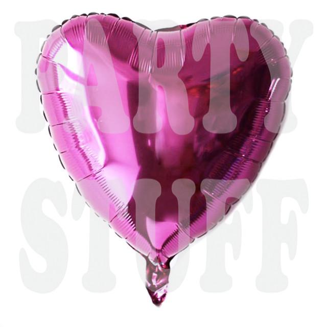 Фольгированное сердце ярко-розовое