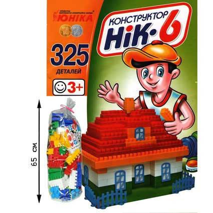 """Конструктор 01515 """"НИК-6"""" 325 дет., фото 2"""