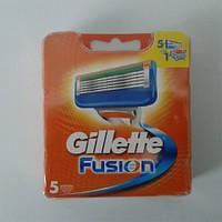 Кассеты для бритья мужские Gillette Fusion 5 шт. ( Картриджи,лезвия Жиллет фьюжин оригинал )