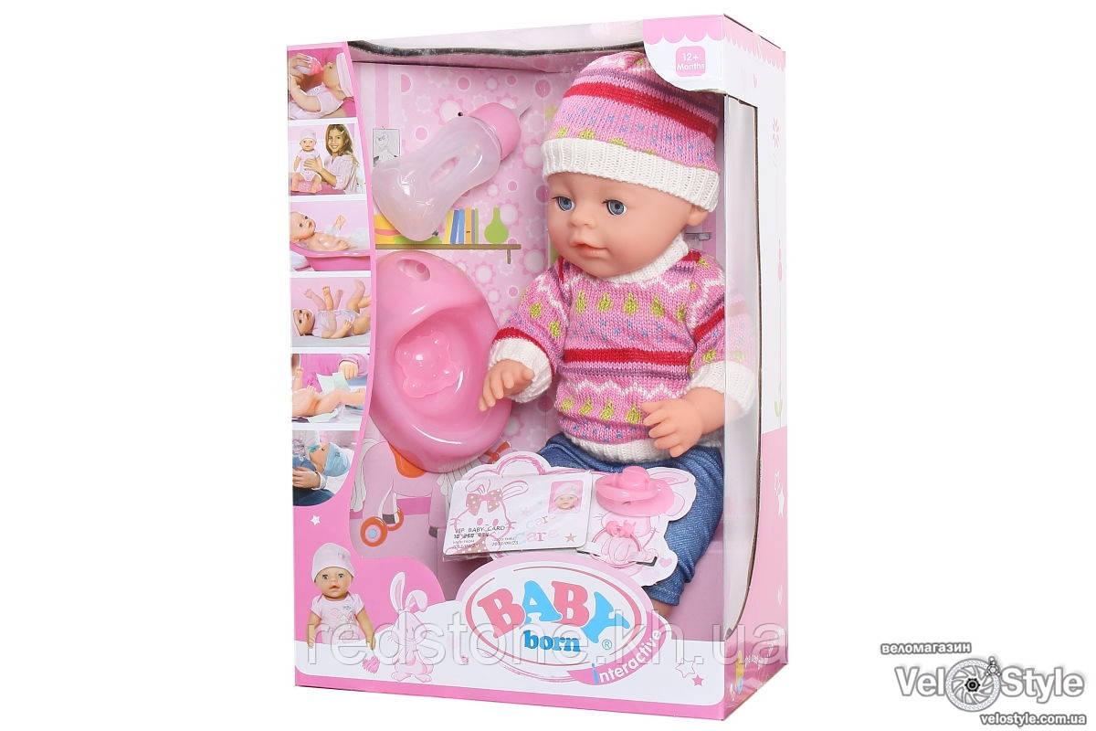 Пупс Baby Born Беби Борн с аксессуарами №2 (кушает,ходит на горшок, памперс...)