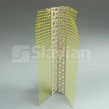 Уголок ПВХ перфорированный с сеткой 7х7см, 3м