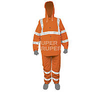 Кобинезон, со светоотражающей полоской, оранжевый, PVC 0,35мм, L
