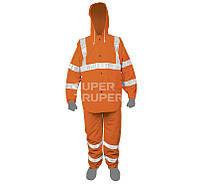 Кобинезон, со светоотражающей полоской, оранжевый, PVC 0,35мм, XL
