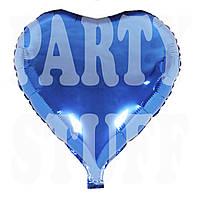 Шар фольгированный Сердце Королевский синий, 44 см