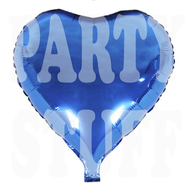 шар фольгированный сердце королевский синий