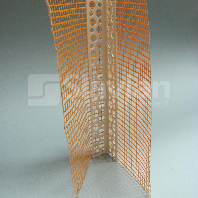 Уголок ПВХ перфорированный с сеткой 10х10см, 2,5м