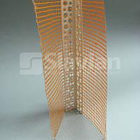 Уголок ПВХ перфорированный с сеткой 10х10см, 2,5м, фото 1