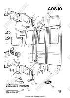 Стекло задней двери Ford Transit 86-00 2.5D-TDI 86VB V42006 FB