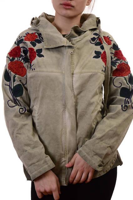 АКЦИЯ!!! Новая цена 30Є!!!Парки женские с вышивкой Pronto Moda New collection  430