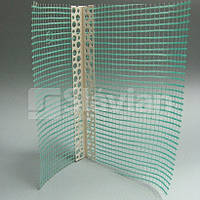 Уголок ПВХ перфорированный с сеткой 10х15см, 2,5м