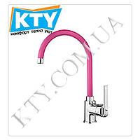 Смеситель для кухни Тека IN 995 Inca Pink (высокий, розовый)