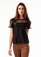 Женская спортивная футболка. Черная, фото 1