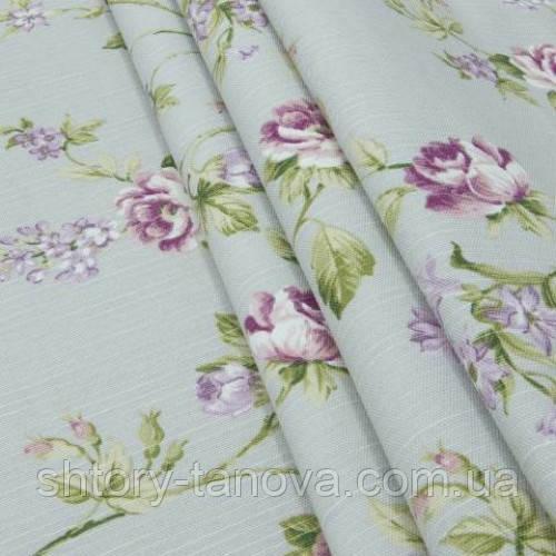 Декоративная ткань цветы средние