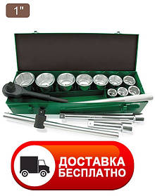 "Набір інструменту 1"" 14ед. (6-гр.) metal case Toptul GCAD1402"