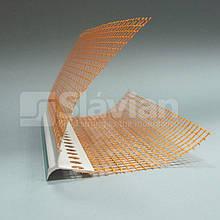 Уголок ПВХ капельный с защитной пленкой и сеткой, 2,5м
