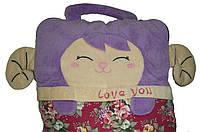 Детский плед подушка сумка 3 в 1