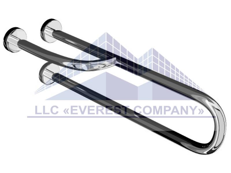 Поручень для инвалидов пристенный усиленный с поворотной ножкой, Ø 32мм - 700мм